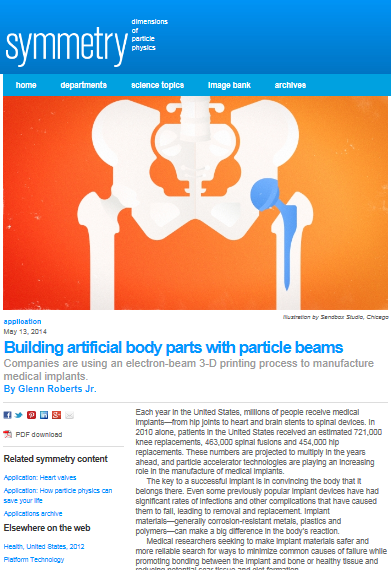Building artificial body parts with particle beams