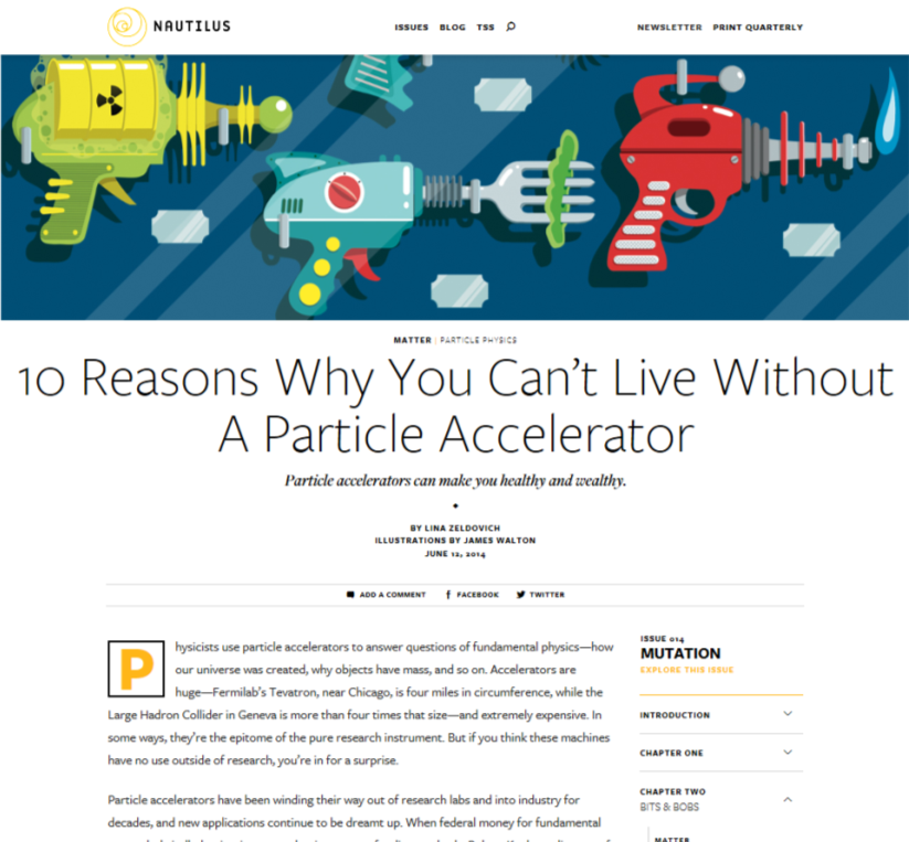 10 Reasons Why You Can't Live Without A Particle Accelerator