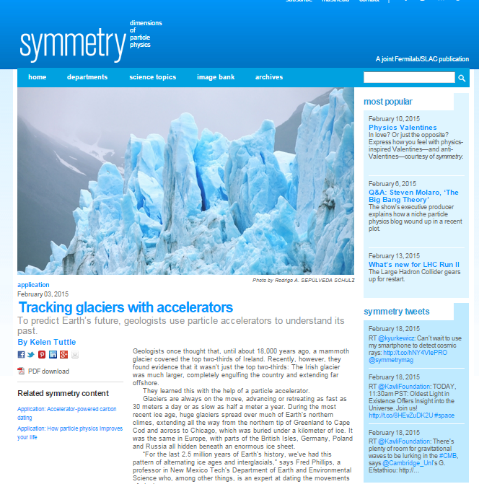 Tracking glaciers with accelerators